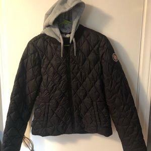 Steve Madden black hooded puffer jacket